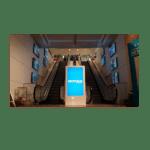 Totem tactile intérieur – Ecran LED 55 pouces – Dalle tactile multi-touch - BORNE-INTERIEUR